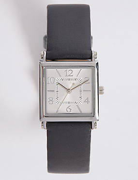 Square Face Strap Watch