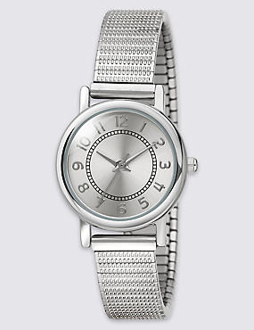 Round Face Etched Expander Watch, , catlanding