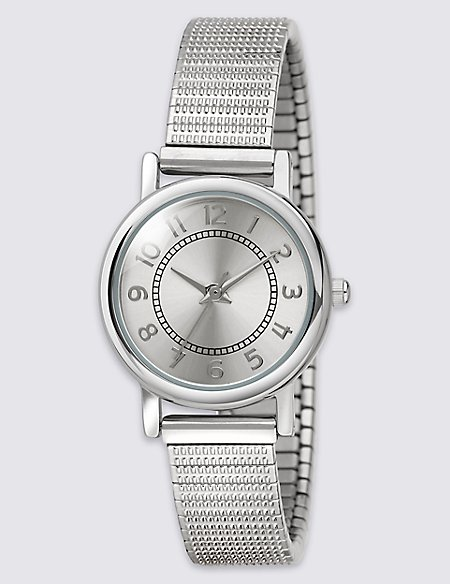 Round Face Etched Expander Watch