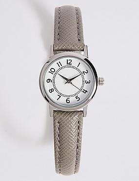 Simple Round Face Mini Watch, GREY MIX, catlanding