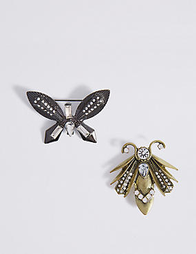 2 Pack Bug Brooches