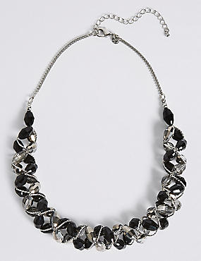 Multi-Faceted Assorted Bead Twist Necklace