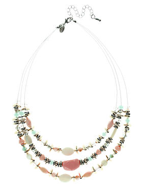 Multi-Row Assorted Bead Necklace