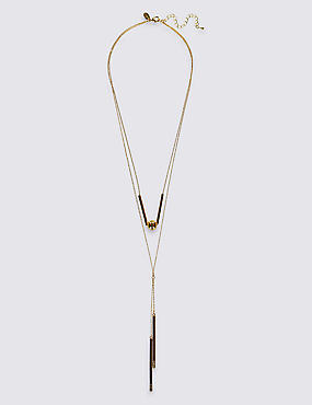 Layer Stick Tube Necklace