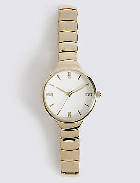 Steps Bracelet Round Face Watch