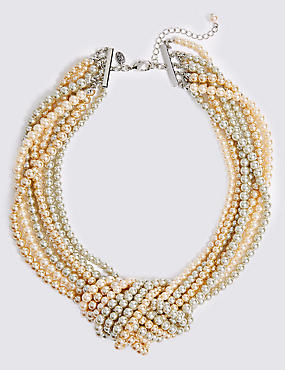 Knot Pearl Necklace