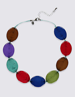 Flat Oval Necklace