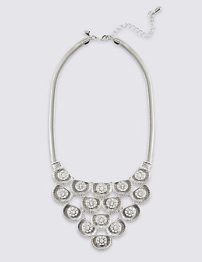 Floral Diamanté Necklace