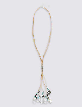 Mixed Up Drop Tassel Necklace