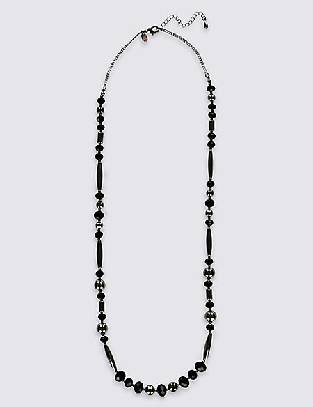 Shape Shifter Bead & Diamanté Rope Necklace