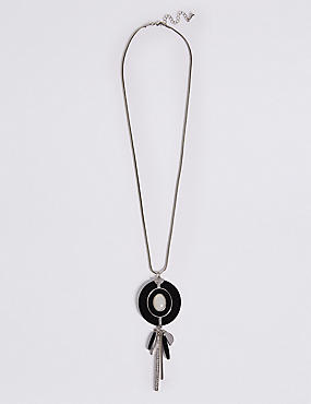 Round Stick Drop Necklace