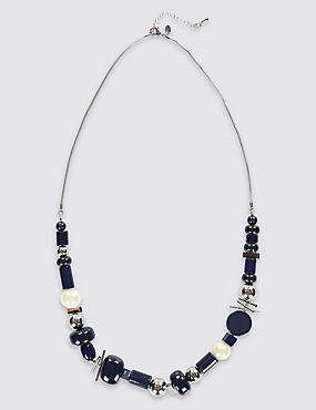 Assorted Bead Long Necklace