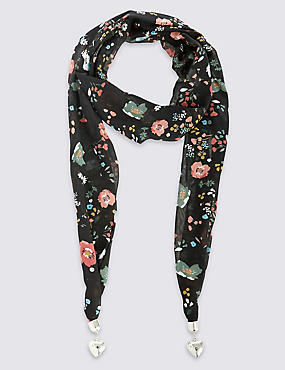 Ditsy Floral Scarf Necklace