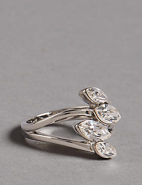 Entwined Pear Ring MADE WITH SWAROVSKI® ELEMENTS
