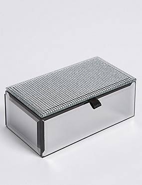 Rectangular Glitter Small Jewellery Box, , catlanding