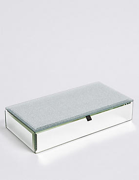 Rectangle Glitter Jewellery Box