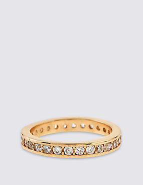 Gold Plated Shimmer Band Ring