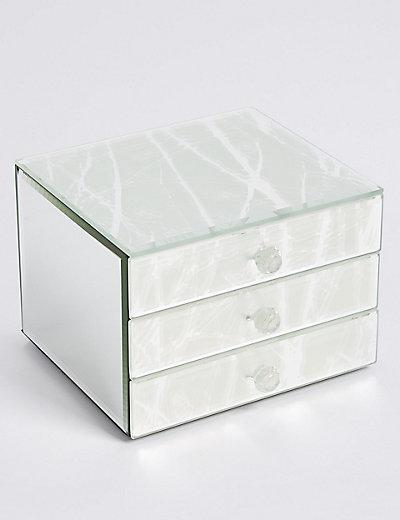 Leather Medium Sleek Jewellery Box by Marks & multivarkaixm2f.gable Colors:Beige_OneSizeDUMMY,multivarkaixm2f.gable Sizes:No Size.