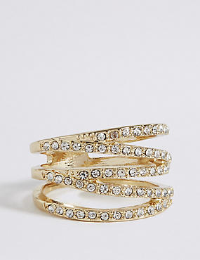 Gold Plated Multi Band Ring
