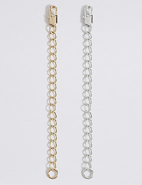 Gold & Silver Plated Necklace Extenders, , catlanding