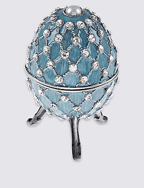 Gustavs Egg Diamanté Encrusted Trinket Box