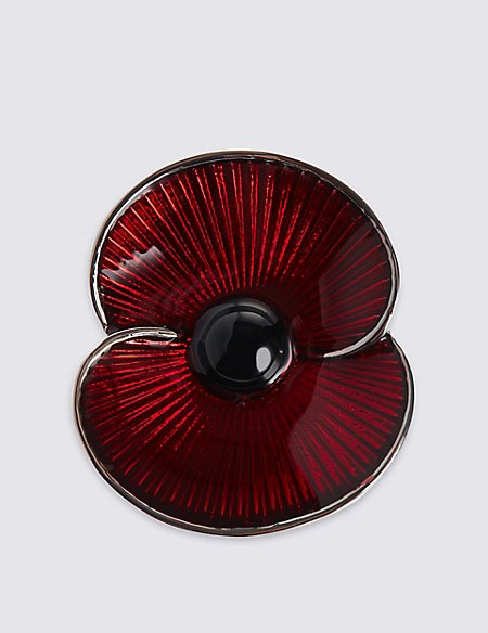 The Poppy® Collection Enamel Poppy Brooch
