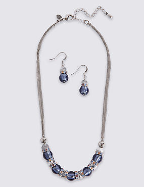 Stacker Necklace & Earrings Set