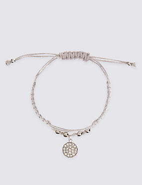Pave Disc Friendship Bracelet