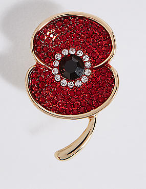 The Poppy Collection® Sparkle Poppy Brooch