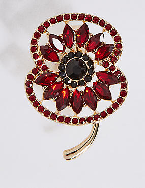 The Poppy Collection® Bejewelled Poppy Brooch
