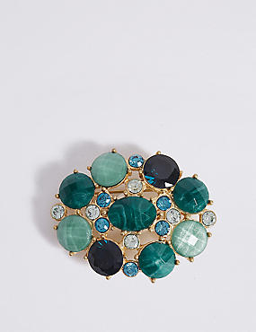 Stone Cluster Brooch