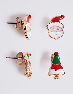 Santa & Tree Earrings