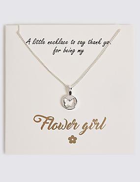 Butterfly Pendant Flower Girl Necklace, , catlanding
