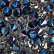 Glitter Ball Keyring , BLUE MIX, swatch