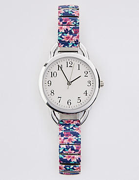 Round Face Tropical Expander Watch, , catlanding