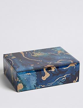 Glass Sparkle Jewellery Box , , catlanding