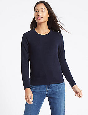 Soft Ribbed Round Neck Jumper