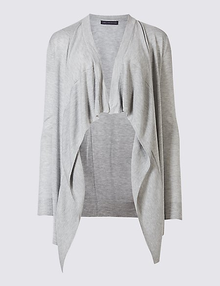 Longline Waterfall Cardigan   M&S Collection   M&S
