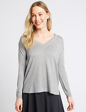 V-Neck Jumper , , catlanding