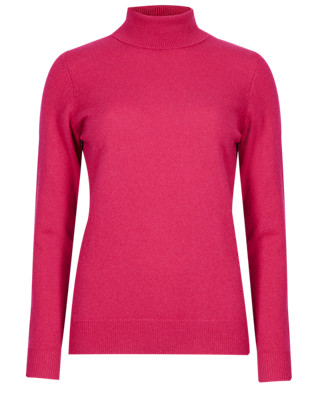 Pure Cashmere Polo Neck Jumper Clothing