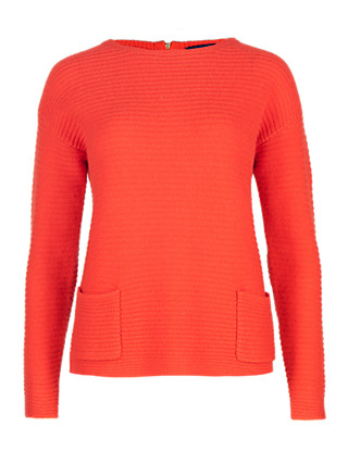 Pure Cashmere Rear Zip Jumper Clothing