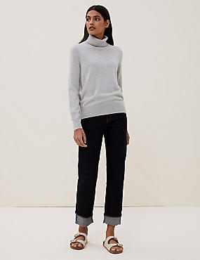 Pure Cashmere Roll Neck Jumper, , catlanding