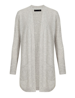 Pure Cashmere Curved Hem Cardigan Clothing