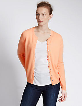 Pure Cashmere Button Through Cardigan
