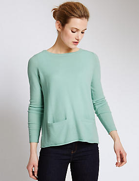 Pure Cashmere Rear Split Jumper