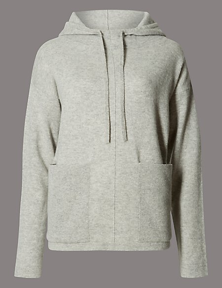 Pure Cashmere Hooded 2 Pocket Jumper
