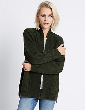 Long Sleeve Seamed Cardigan