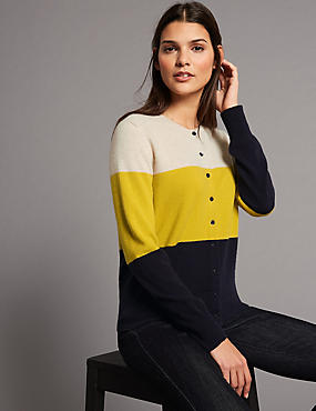 Pure Cashmere Colour Block Cardigan