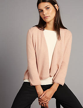 Pure Cashmere Waterfall Cardigan