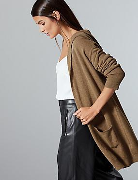 Pure Cashmere Textured Cardigan , MOLE, catlanding